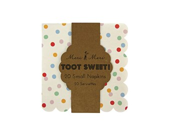 Toot Sweet Spotty Small Paper Napkins by Meri Meri, Party Supplies, Tableware