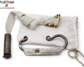 Eg_02c - Flint and Damascus Steel FIRE STARTER KIT
