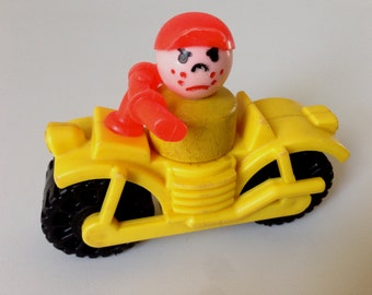 Fisher Price Motorcycle and Angry Boy