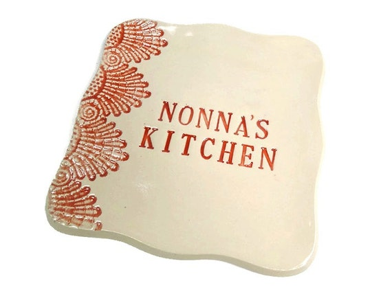 Nonna 39 s kitchen dish grandmother gift nonna birthday for Italian kitchen gifts