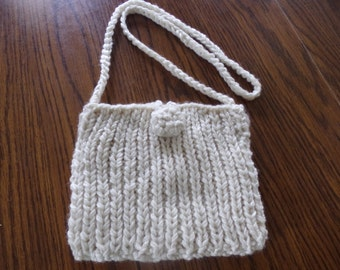 PURSE KNITTED LINED - off white color - crossbody bag
