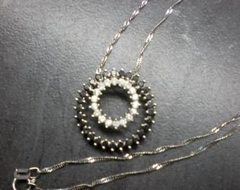 Diamond necklace(10KWG,genuine diamonds)
