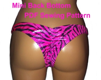 Mini Back Bikini (5 Sizes)