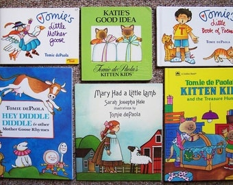 Tomie dePaola Book Collection of 12  - Andy, Too Many Bunnies, Little Mother Goose, Kitten Kids, Little Book of Poems - Childrens Book Lot