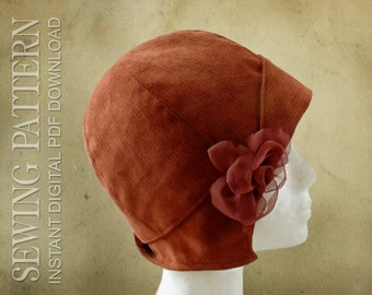 SEWING PATTERN - Clementine, 1920's Twenties Cloche Hat for Child or Adult