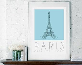Paris Poster, Paris Wall Decor, Paris Decor, Parisian Decor, Wall Decor, Romantic Wall Art, Bedroom Decor, Housewarming Gift