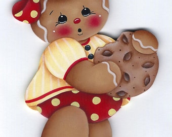 Yummy Cookie Gingerbread  Painting E-Pattern