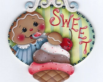 Sweet Ice Cream Gingerbread  Painting E-Pattern