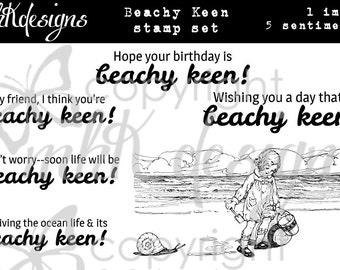 Beachy Keen Digital Stamp Set