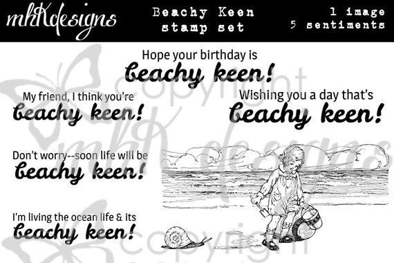 Beachy Keen Digital Stamp Set