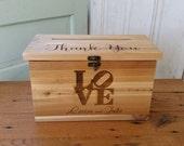 Wood Card Box, Large Card Box, Rustic Wedding, Wedding Cards, Laser engraved Wedding card Box, Wedding Decor, card box