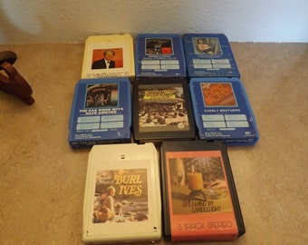 Eight Retro 8 Track Tapes