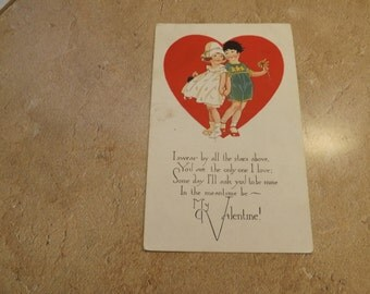 Antique Valentines Day Postcard