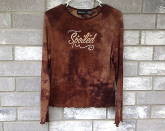 90s brown glitter spoiled long sleeve top
