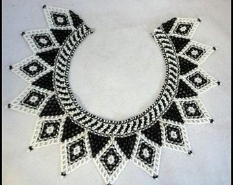 Vintage Hand Beaded Collar