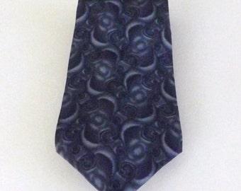 CLEARANCE Henry Grethel Gray Geometric Print Silk Necktie Classic Business Wear Great Gift Idea