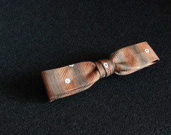 Vintage 1950's Ormond N.Y.C. Clip-on Slim Bow Tie (LDP1)