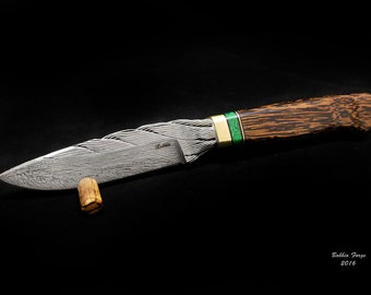 SALE Cable Damascus Knife With Full Wire Spine