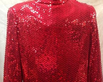 Hirsleifers red Vintage sequins Maxi Dress