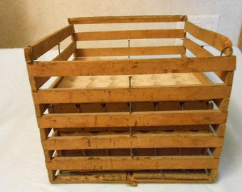 Early 1900's Primative Wood Egg Crate