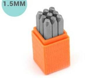 1.5mm Economy Sans Serif Font Metal Number Stamp Set-1.5MM-Metal Stamp-Metal Number-SGSCE11-1.5MM