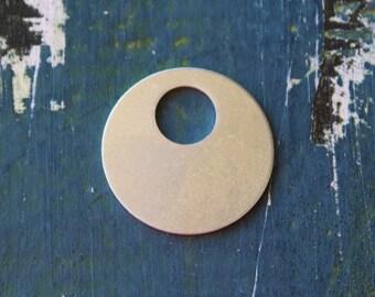 "Aluminum Offset Washer Stamping Blank - 7/8"" Metal Stamping Blank - 20 Gauge- Pack of 10 - Jewelry Stamping Blank - SGAD12458"