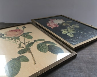 Vintage roses wall hanging Roses Shabby picture Floral picture Cottage wall hanging