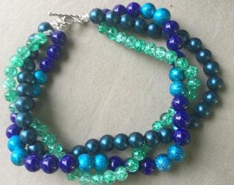 Multi-Strand Woven Beaded Bracelet