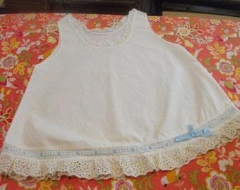White Baby Slip