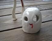 Little Ghost Aquarium Set - Ceramics and Pottery - Terrarium Figurines - Small Garden Sculptures - Fish Tank Decorations - Betta Hide