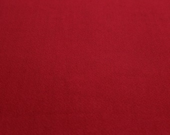 Red Crepe Techno Crepe Knit Fabric