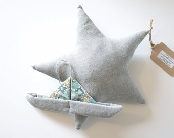 Star And Origami Boat Mobile