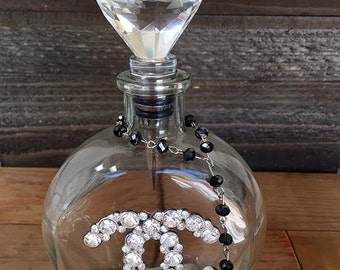 Decorative Glass Bottle, Apathy Jar, Embellished Home Decor
