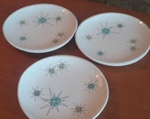 Franciscan Starburst Small Salad Plates set of 3