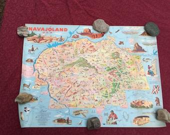 1960 Navajo land cartograph map