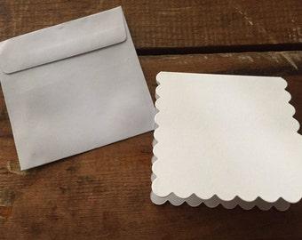 Studio White Paper craft cards & envelopes 10pcs