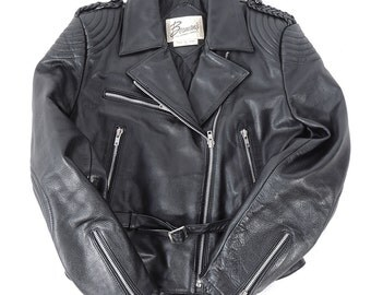 Vintage Berman's Leather Motorcycle Jacket Padded Elbows and Shoulders Womens Size 14