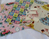 Vintage 1950s All Occasion Gift Wrap lot of Three Full Sheets in different patterns**Epsteam