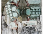 """Original Acrylic Mixed Media Painting Erasure Poem by Counsel Langley """"Systems"""""""