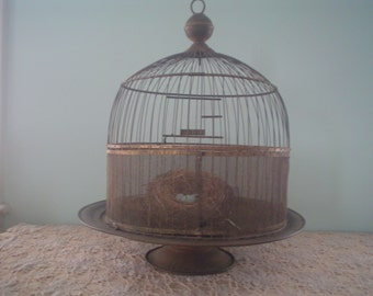 Hendryx Brass Birdcage  Antique Vintage Bird Cage