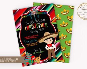 Fiesta Mexican Birthday, Mexican Party, Boy Fiesta, Muchachito, Fiesta Mexican Invitation- YOU PRINT