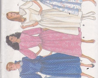Butterick 5721 Vintage Pattern Womens Dress Mid Calf Length Pleated Skirt Size 6,8,10 UNCUT