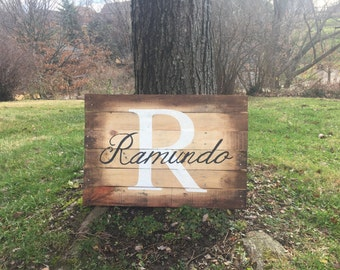 "Custom Monogramed Sign 32""x24"""