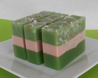 Christmas Soap Loaf - Mistletoe Ivy - Glycerin Soap Loaves - 2 Pounds - Uncut or Cut