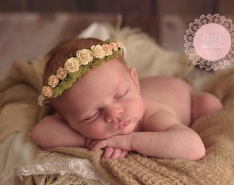 Newborn Floral Crown, Newborn Photo Prop