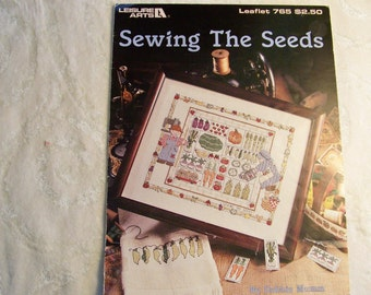 Counted Cross Stitch Pattern - Sewing The Seeds By Debbie Mumm
