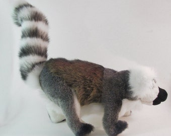Handmade Ring Tailed Lemur Wildlife Plush Stuffed Animal Toy King Julien Zoboomafoo