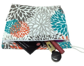 Bloom Floral Waterproof Wet Bag for Makeup, Swimsuits, or Other Wet Storage- Ready to Ship