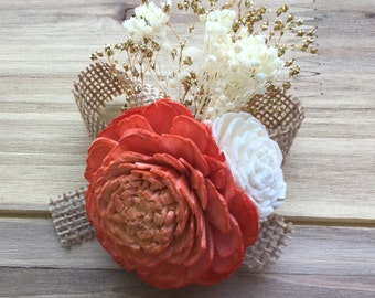 Sola flower corsage, Wedding corsage, Pin on corsage