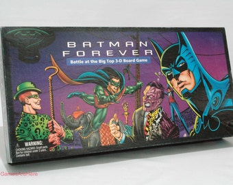 Batman Forever Board Game from Parker Brothers 1995 COMPLETE w Some New Parts